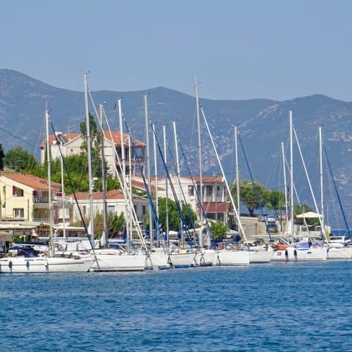 Flotilla Yachts moored in Ag. Efimia