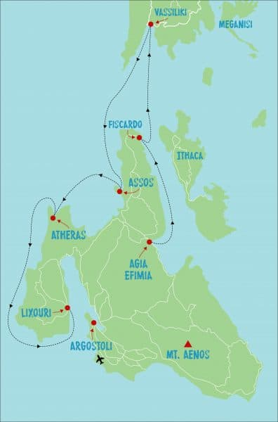 Reverse West Coast Flotilla Route Map
