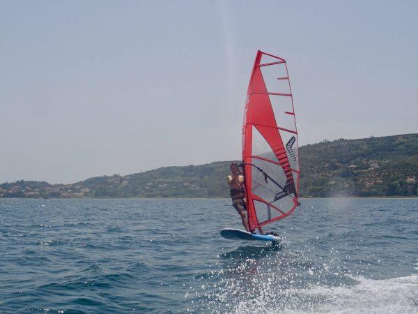 Windsurf Foiling at Lixouri Bay Beach Club