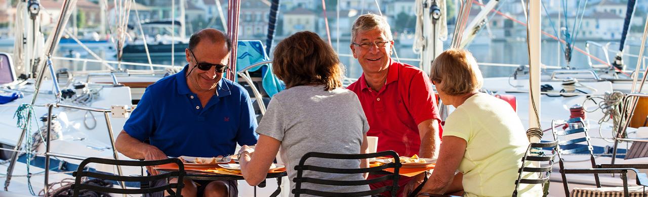 Eating out on Flotilla Sailing Holiday