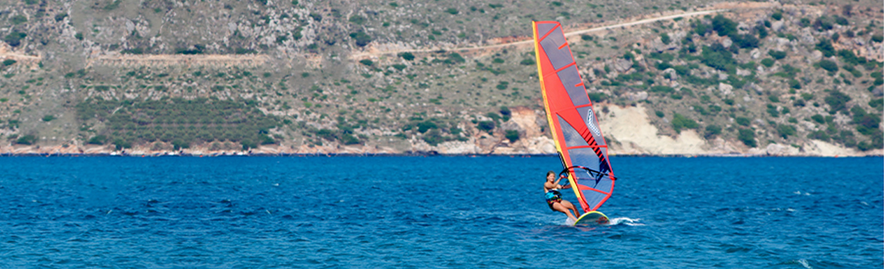 Windsurfer at Paliki Beach Club