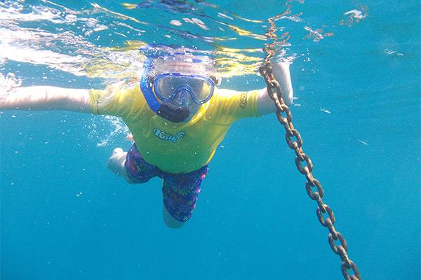 Snorkelling in Kefalonia