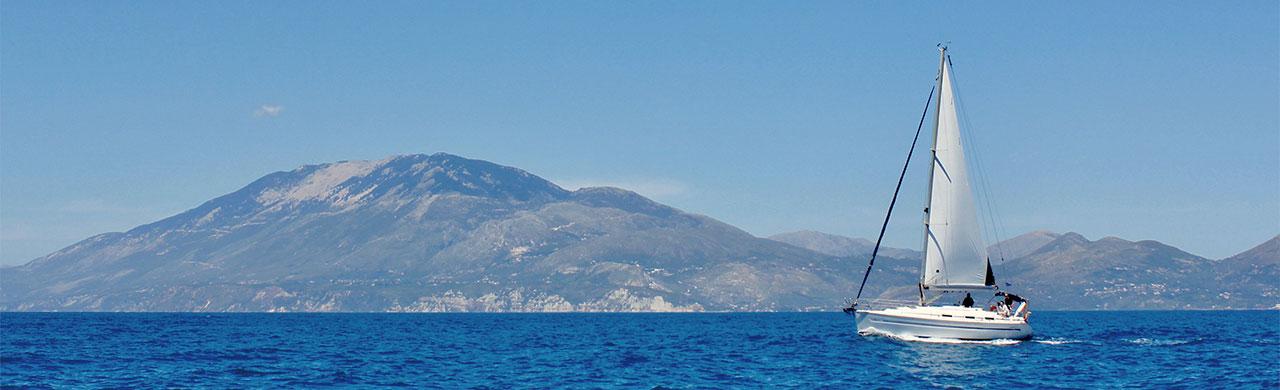 yacht sailing kefalonia