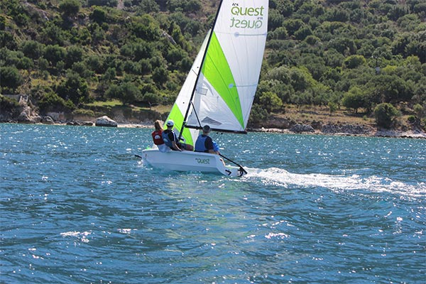 Dinghy Sailing in Kefalonia Greece