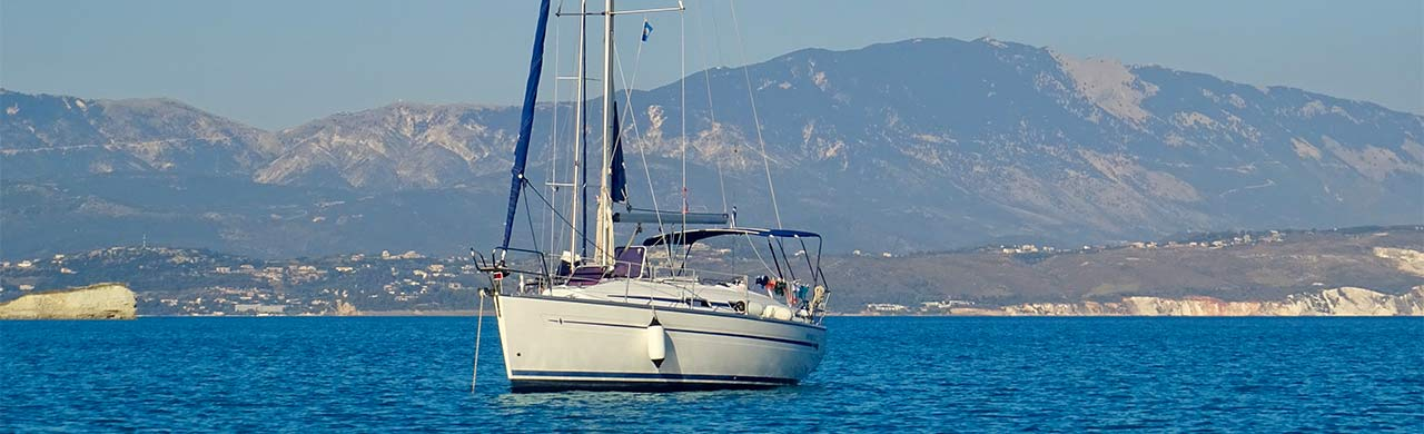 Learn to sail yacht on a mooring