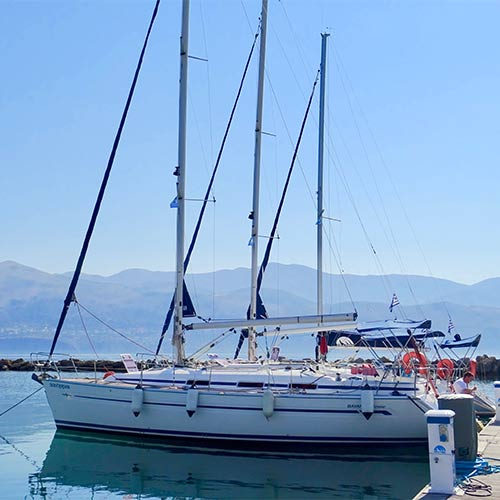 Yacht moored in Kefalonia
