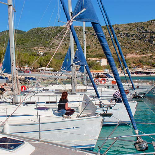 Yachts in Kalamos