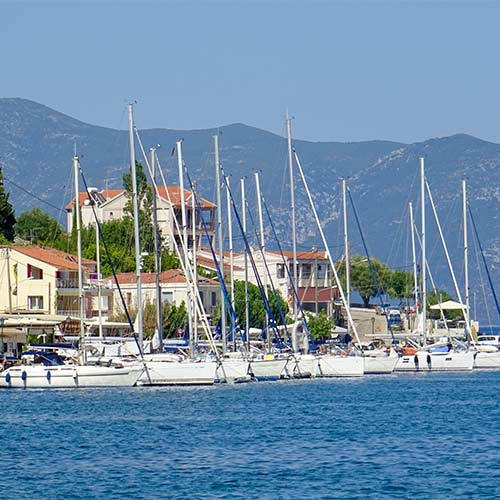 Yachts moored in Agia Efimia_