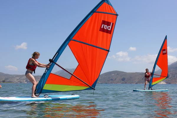 Beginner Windsurfers in Kefalonia