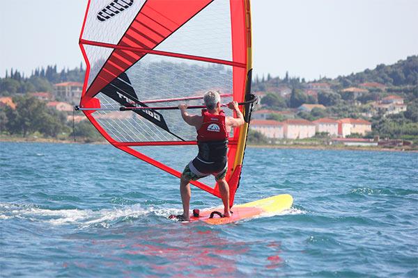 Intermediate windsurfing in Kefalonia