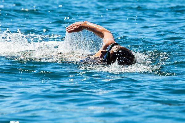 Wild swim across the bay in Kefalonia