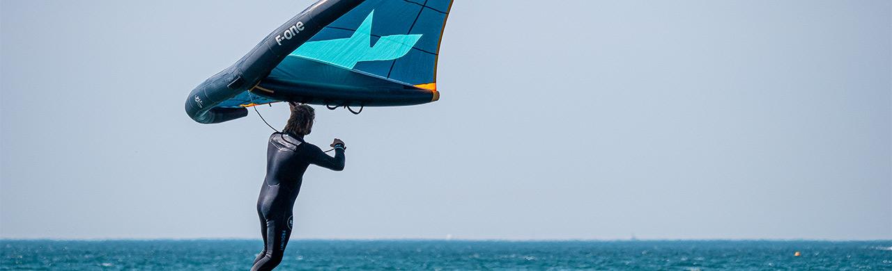 Wing surfing in Kefalonia Greece