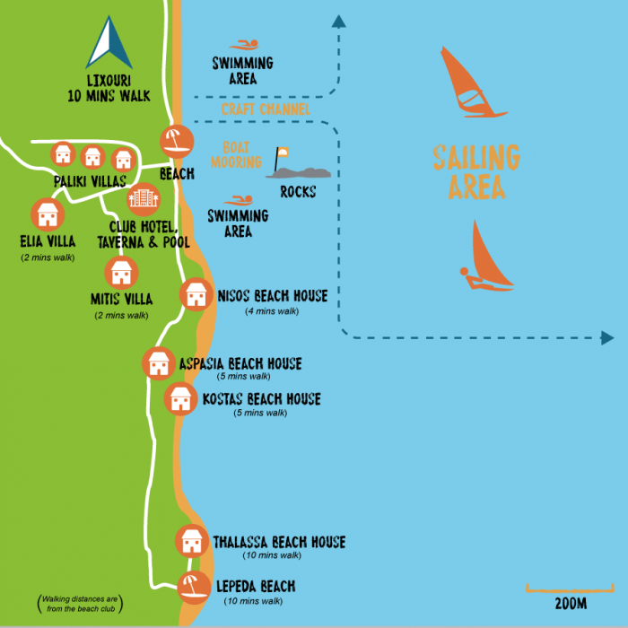 Paliki Beach Club Map