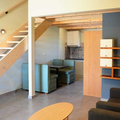 Downstairs area - Mezzanine Family Apartment Paliki Beach Club