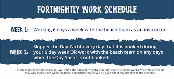 Watersports Instructor, Day Yacht Skipper Schedule