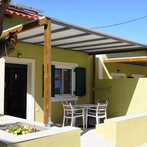 Shaded Terrace - Mezzanine Family Apartment Paliki Beach Club